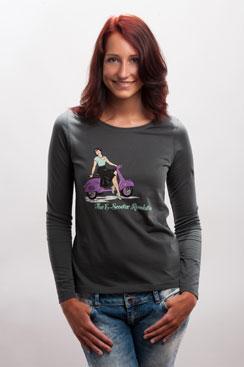 Damen Longsleeve Shirt The E-Scooter...