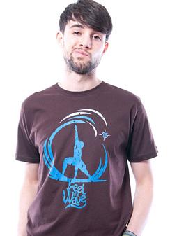 Herren T-Shirt Feel The Wave braun