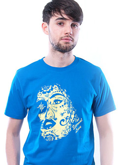 Herren T-Shirt Eternal Love blau