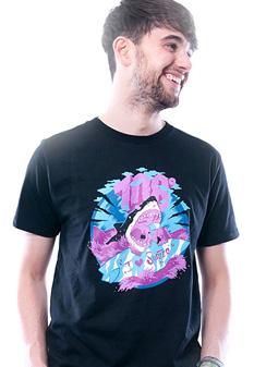 Herren T-Shirt Love Surfer schwarz