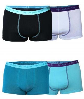 Herren Retro Pants Mix petrol / schwarz mint / aqua / white 4er Pack