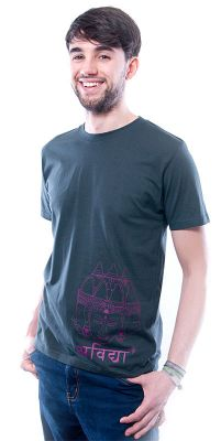 Herren T-Shirt Asian Sculpture grau