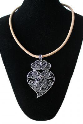 Kork Halskette mit Viana Herz
