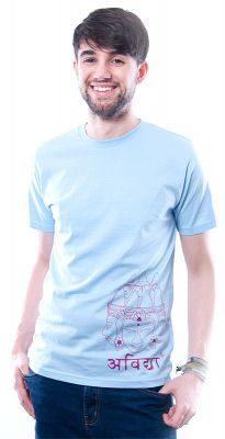 Herren T-Shirt Asian Sculpture hellblau