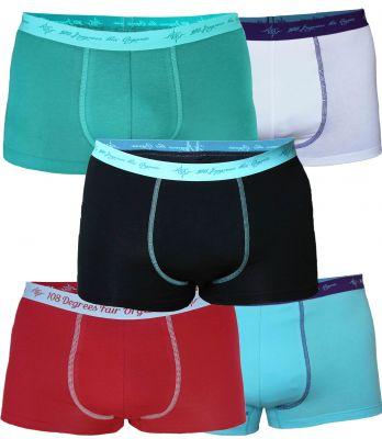 Herren Retro Pants Mix petrol / black / aqua / chili / white 5er Pack