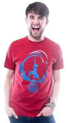 Herren T-Shirt Feel The Wave rot