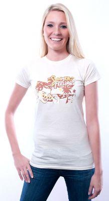 Damen Slim Fit T-Shirt Summer Feelings ecru