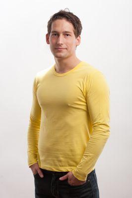 Herren Longsleeve Shirt lemon