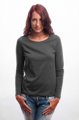 Damen Longsleeve Shirt grau