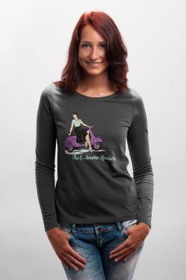 Damen Longsleeve Shirt The E-Scooter Revolution!grau