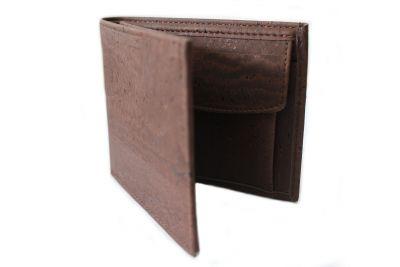 Portemonnaie aus Kork in dunkelbraun