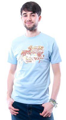 Herren T-Shirt Summer Feelings hellblau