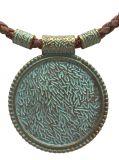 Kork Halskette mit Aztek Medaillon
